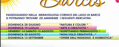 Estate a Barcis 2020: Mercatini a Ferragosto – fuochi artificiali pirotecnici
